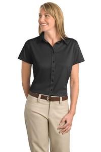 Port Authority® L495 Ladies Dry Zone™ Herringbone Sport Shirt
