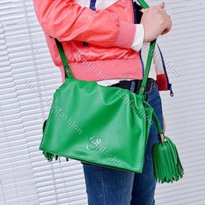 Bag Fashion 14258 - New Restore Mini Tassel Shoulder Bag Women's Girl Handbag Satchel Bags Cross Body Green/Blue