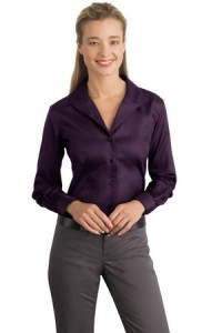 Red House® RH48 Ladies Herringbone Non-Iron Button-Down Shirt
