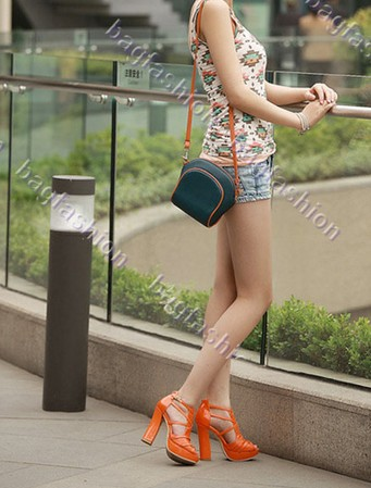 Bag Fashion 15612 - Summer Women's Fashion Sexy Square Heel Peep-Toes High Heels Sandals Leather Platform Shoes