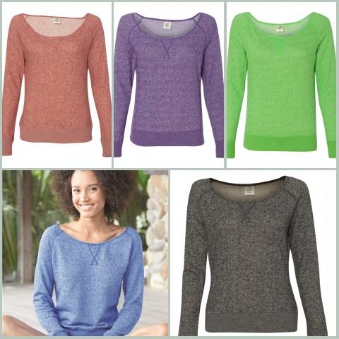 Junior Wide Neck Sweater Fleece  from NYFifth.com