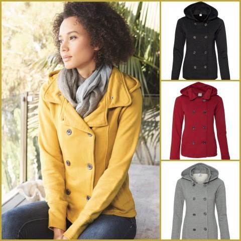 Juniors Premium Heavy Textured Fleece Pea Coat  from NYFifth.com