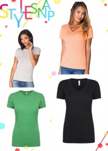 nyfifth-next-level-ladies-poly-cotton-v-neck-tee