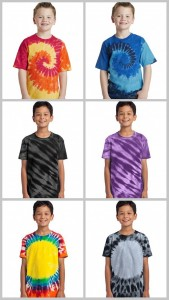 Port Company Youth Essential Tiger Strip-Window Tie Dye Tees