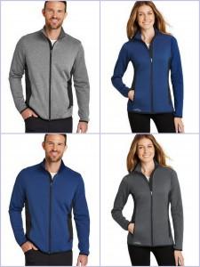 Eddie Bauer Full Zip Heather Stretch Fleece Jacket from NYFifth