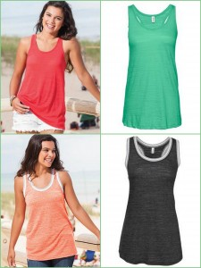 Enza Ladies Textured Triblend Flowy Vintage Triblend Sporty Tank from NYFifth