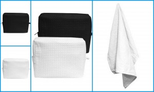 Liberty Bags Tammy Waffle Weave Spa Bag Carmel Towels Sublimation Velour Towel from NYFifth