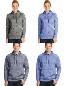 Sport Tek PosiCharge Electric Heather Fleece Hooded Pullover from NYFifth