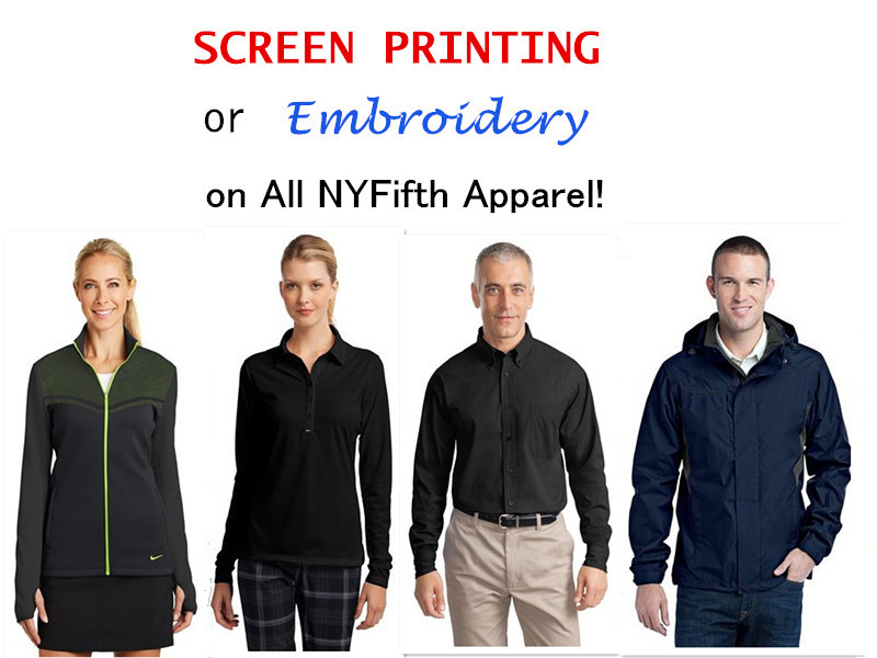 Promotional Blank Apparel for Screen Printing or Embroidery from NYFifth