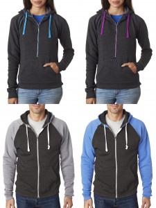 j-america-ladies-half-zip-tri-blend-hooded-fleece-adult-tri-blend-color-black-full-zip-hooded-fleece-from-nyfifth