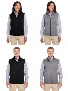 Devon Jones Ladies Mens Newbury Melange Fleece Vest from NYFifth