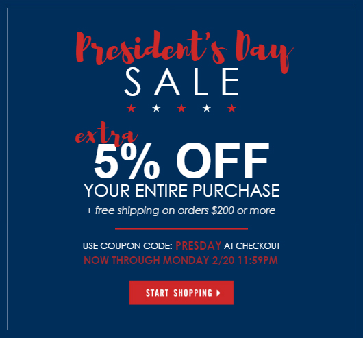 Presidents Day Sale 2017 at NYFifth