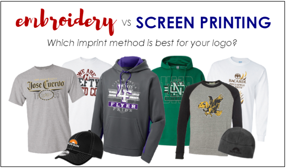 Embroidery vs Screen Printing from NYFifth