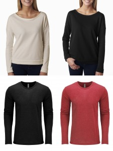 Next Level Triblend Long Sleeve Crew The Terry Long Sleeve Scoop from NYFifth