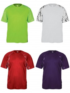 Badger Sport Adult Shcok Performance Sport Tee Static Hook Perforamnce Athletic Tee from NYFifth
