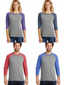 District Made Ladies Mens Perfect Tri Three Quarters Sleeve Reglan from NYFifth