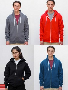 Los Angeles Apparel Flex Fleece Zip Hoodie Heavy Weight Fleece Zip Up Hood from NYFifth