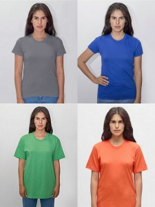 Los Angeles Apparel Ladies Fine Jersey Tee Cotton Tee from NYFifth