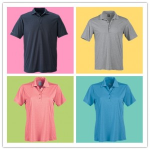 Page Tuttle Women Heather Princess Seam Short Sleeve Polo Mens Heather Seam Detail Short Polo from NYFifth