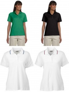 Ashworth Ladies High Twist Cotton Tech Polo Performance Wicking Blend Polo from NYFifth