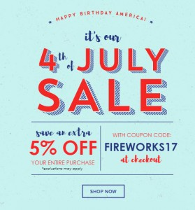 Fourth of July Sale from NYFifth