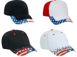 United States Flag Flame Pattern Visor Brushed Cotton Twill Two Tone Color Six Panel Low Profile Pro Style Caps from NYFifth