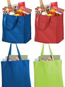 Port Authority Extra Wide Polypropylene Grocery Tote Polypropylende Tote form NYFifth