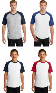 Sport Tek Youth Short Sleeve Colorblock Raglan Jersey from NYFifth