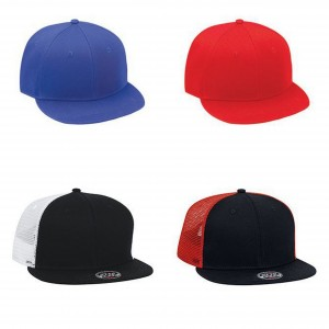 OTTO Cotton Twill Flat to Flip Visor Snapback Solid Color Six Panel Pro  Styles Caps Solid 76e83bbb763