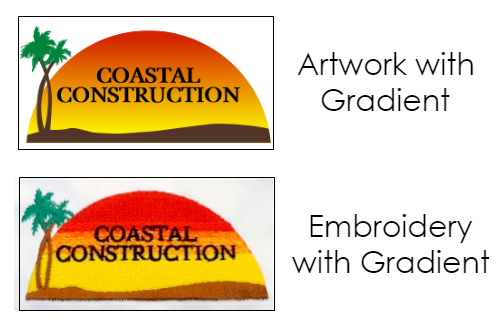 Example of Gradient Embroidery from NYFifth