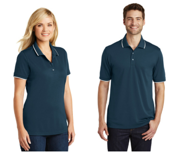 Port Authority Tipped Dry Zone® UV Micro-Mesh Polos from NYFifth