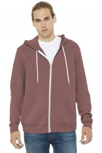 Bella Canvas 3739 Unisex Poly Cotton Fleece Full Zip Hoodie from NYFifth