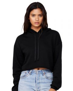 Bella Canvas 7502 Womens Cropped Fleece Hoodie from NYFifth