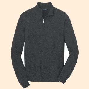Port Authority SW290 Half Zip Sweater from NYFifth