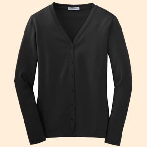 Port Authority L515 Ladies Modern Stretch Cotton Cardigan from NYFifth