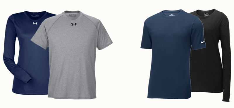 Under Armour Performance Tees VS Nike Performance Tees from NYFifth