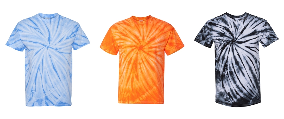 Cyclone Tie Dye Tees from NYFifth