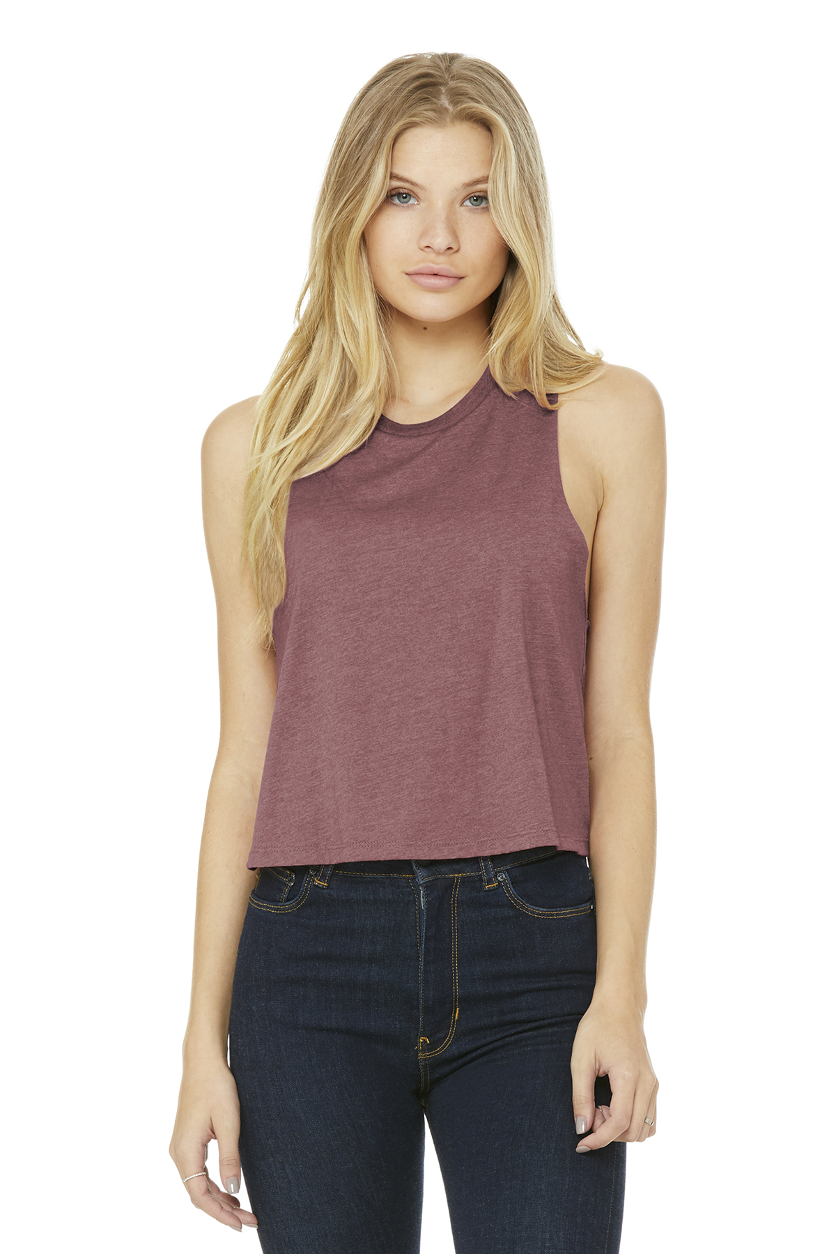 Bella Canvas 6682 Womens Racerback Cropped Tank from NYFifth