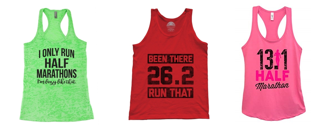 Custom Tank Tops for Marathons from NYFifth
