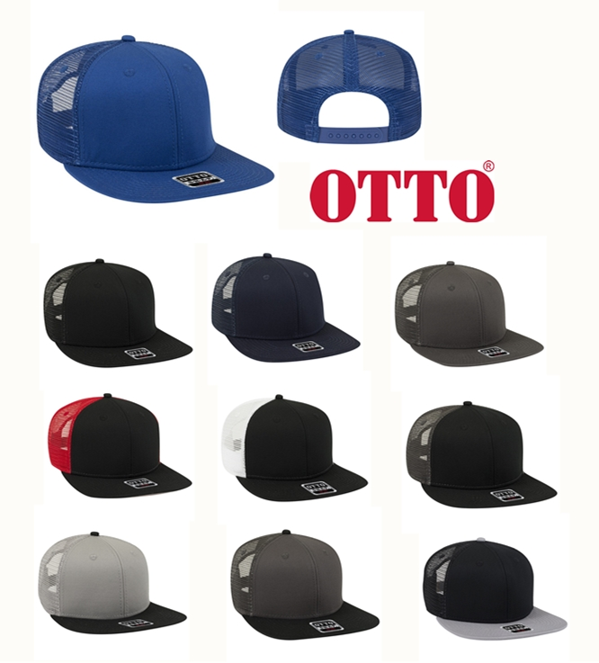 OTTO Cap 166 1216 Mesh Back Trucker Snapback Hat from NYFifth
