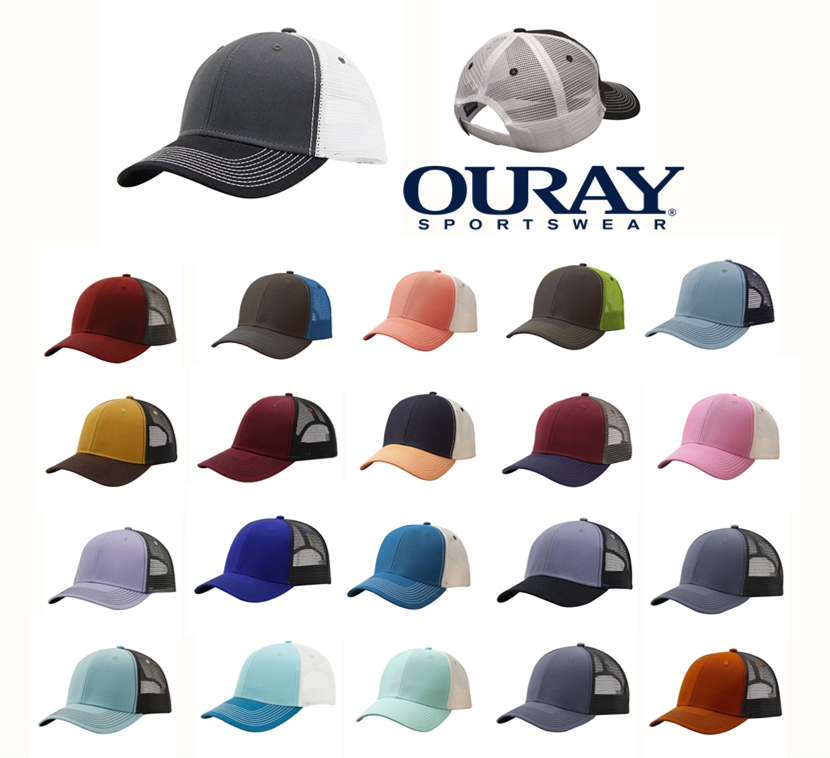 Ouray 50004 Contrast Stitch Mesh Sideline Cap from NYFifth