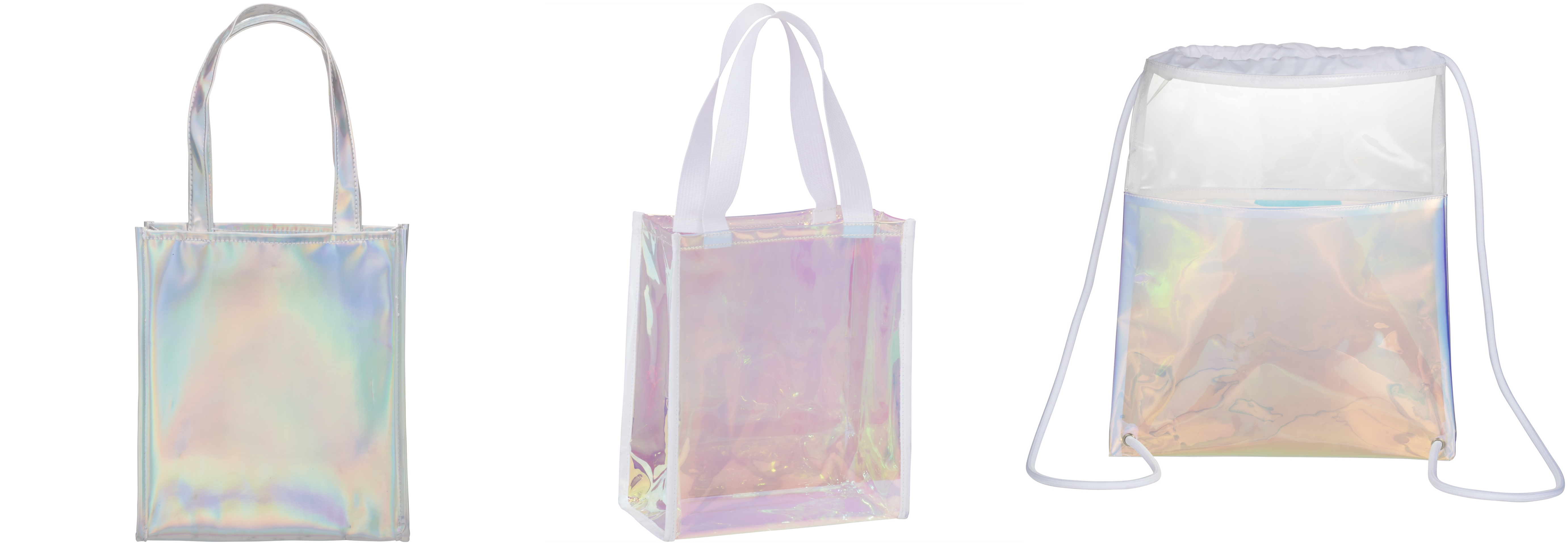 Iridescent and Holographic Print Bags from NYFifth