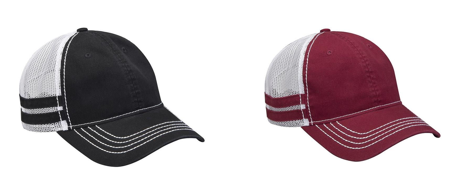 Adams Headwear Heritage Stripe Trucker Cap from NYFifth
