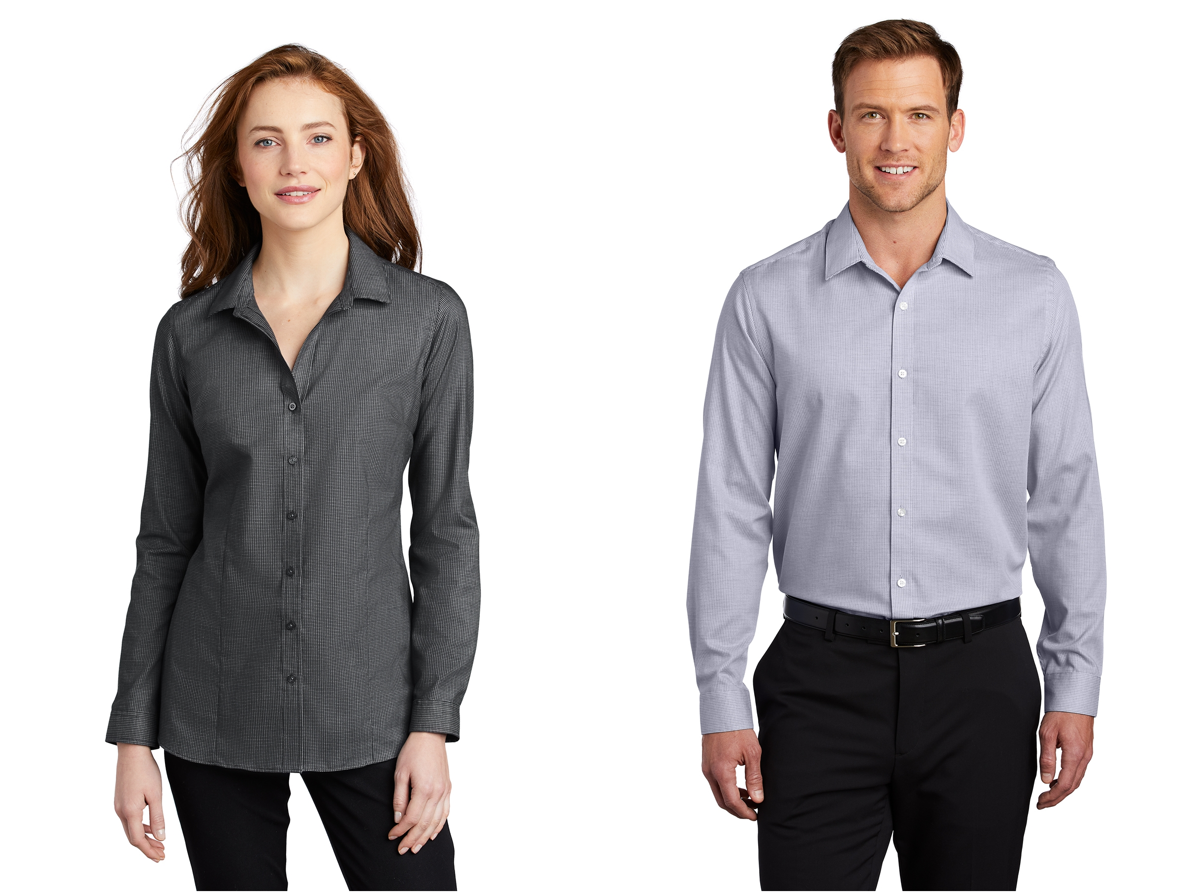 Port Authority Pincheck Easy Care Shirt from NYFifth