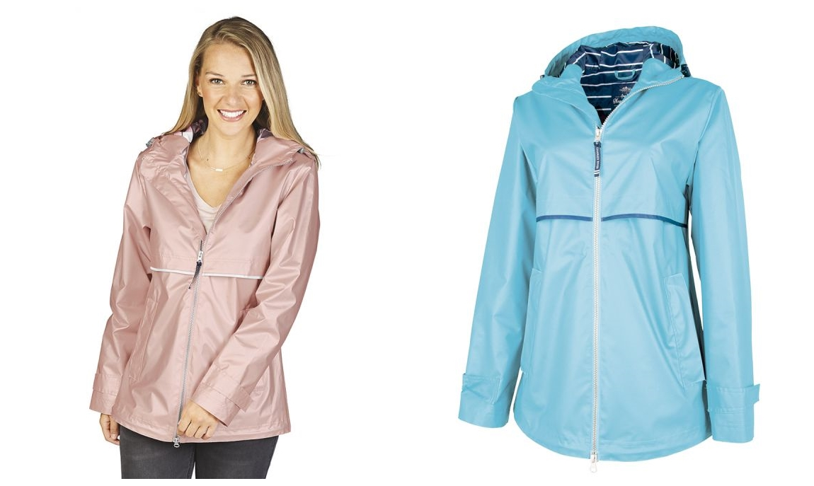 Charles River 5996 Womens New Englander Rain Jacket with Print Lining from NYFifth