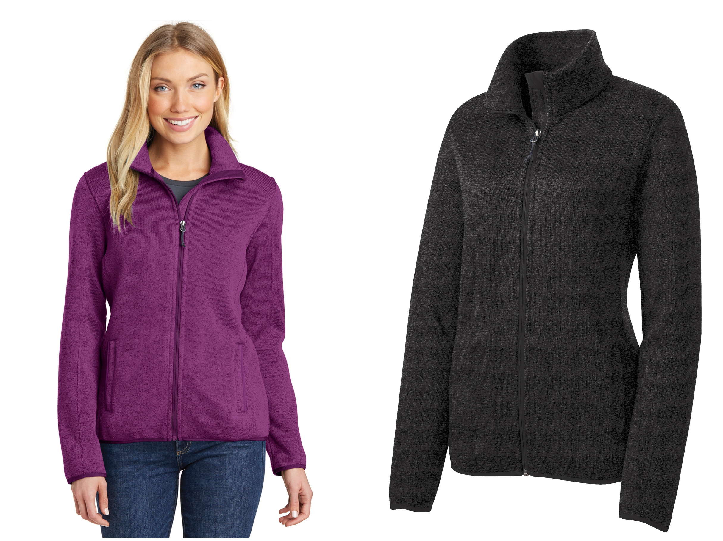 Port Authority L232 Ladies Sweater Fleece Jacket from NYFifth