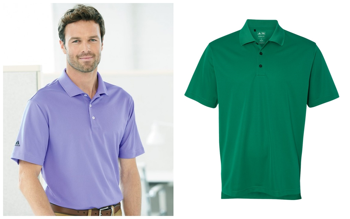 adidas A130 Mens ClimaLite Basic Pique Polo from NYFifth