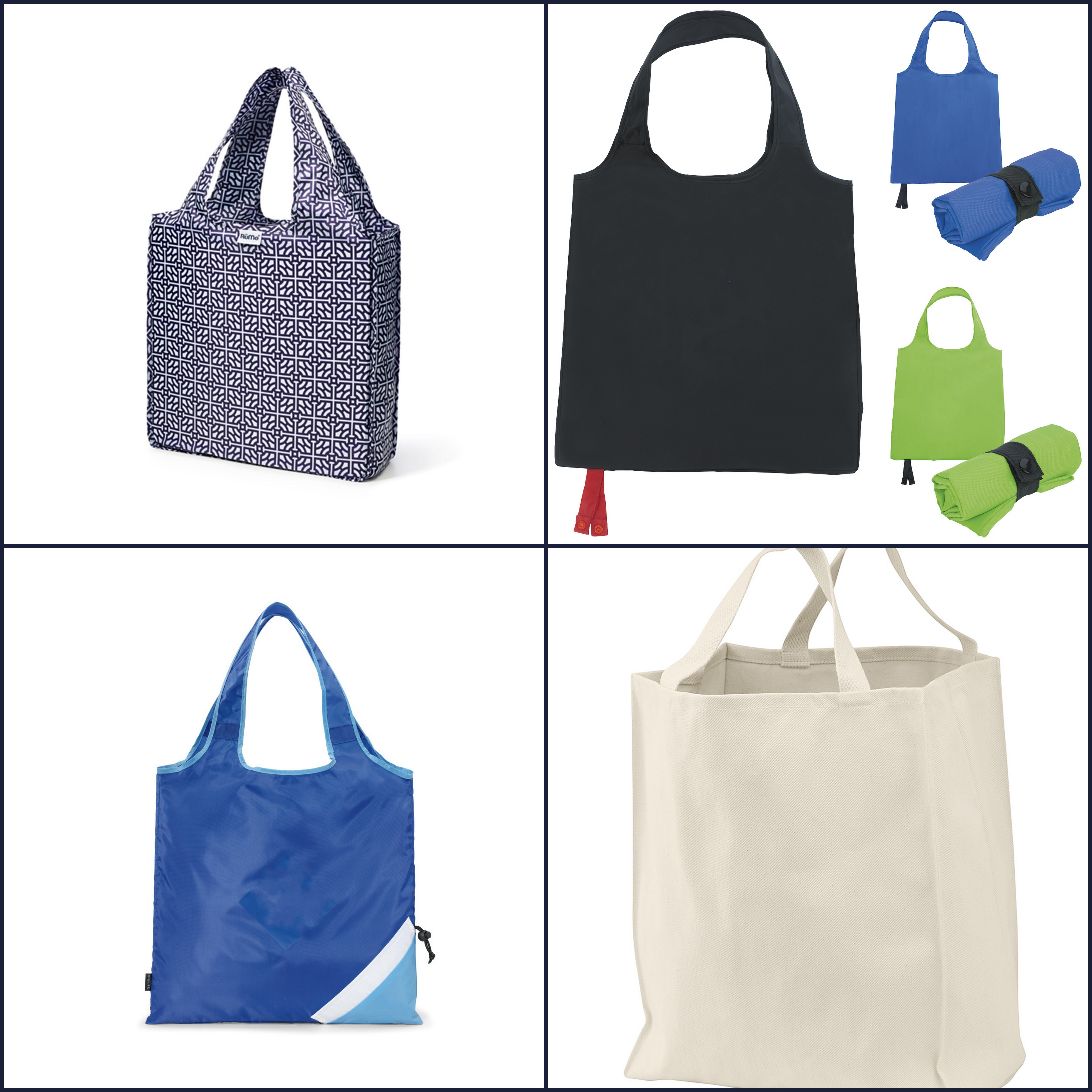 Foldable Reusable Bags from NYFifth