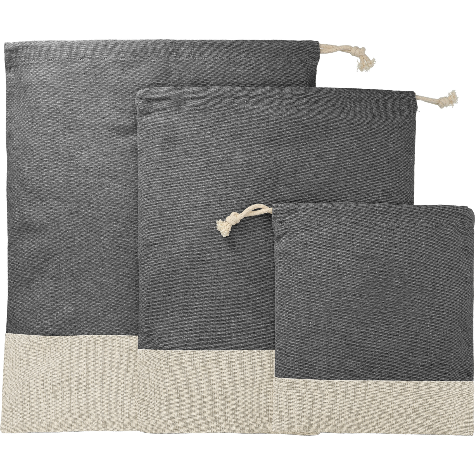 LEEDS Split Recycled 3pc Travel Pouch Set from NYFifth