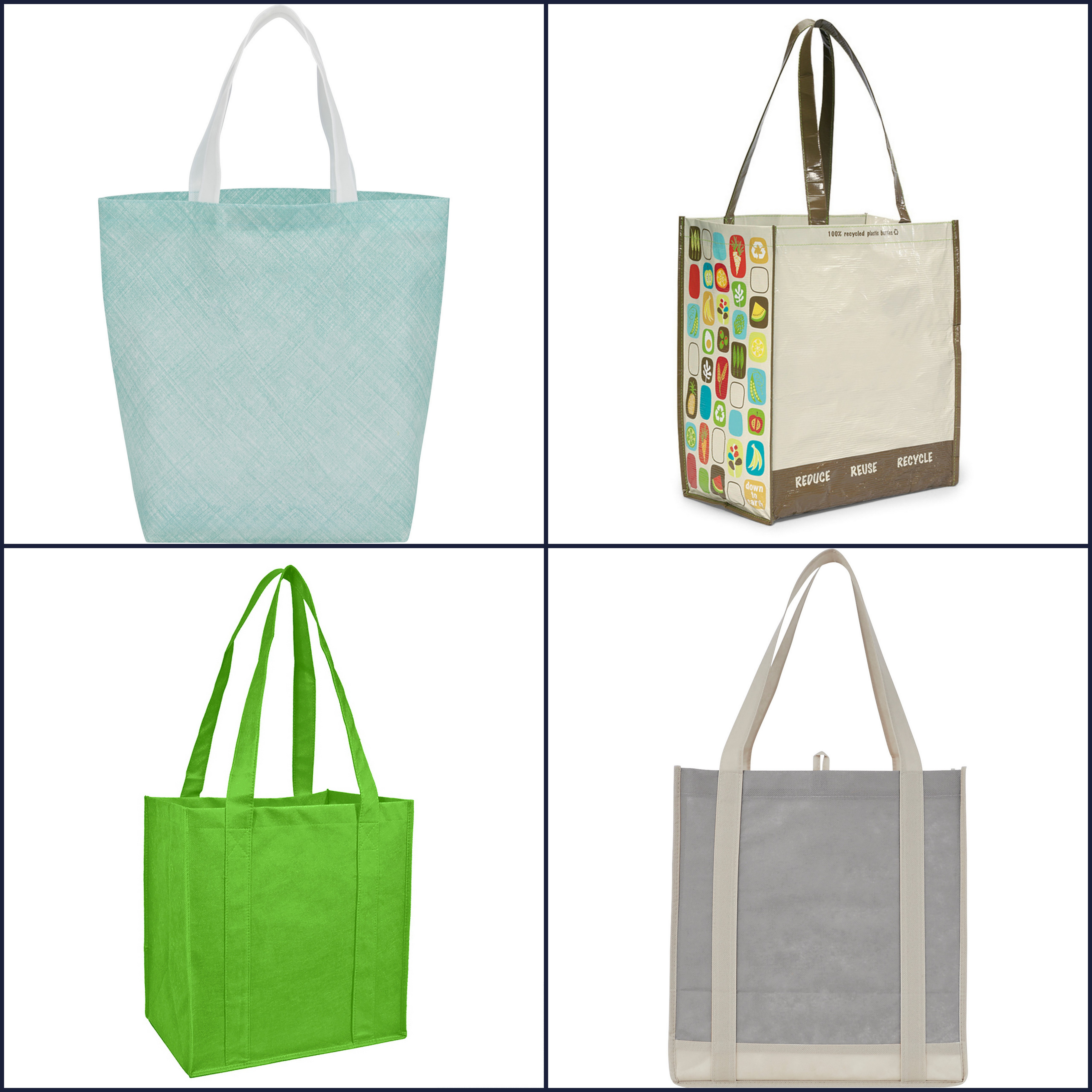 Non Woven Shopper Totes Laminated Totes from NYFifth